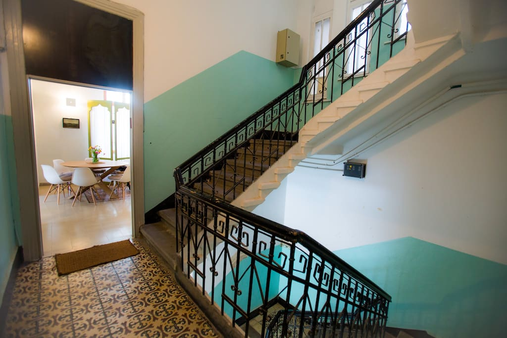 Large + beautiful stairwell and entrance