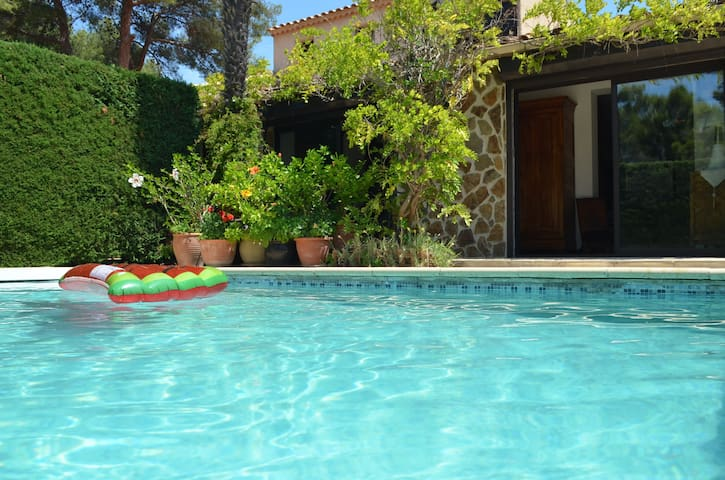 Independent studio and swimming pool by the sea