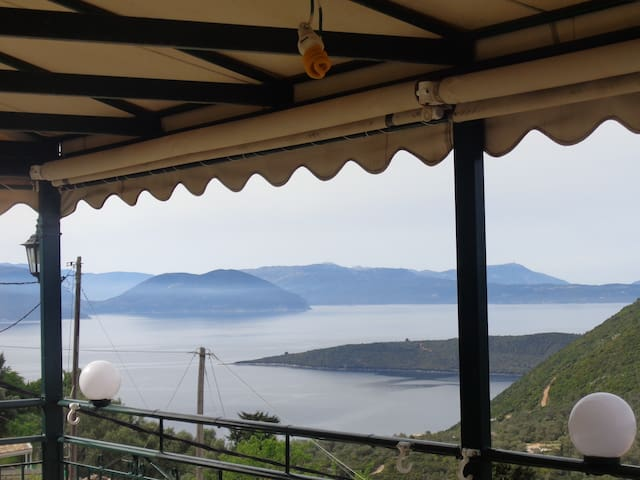Magic view of the islands Ithaka and Kefalonia