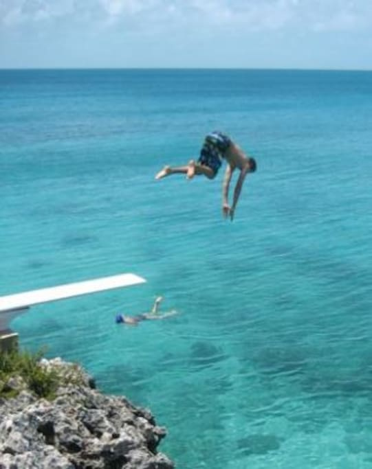 High dive  from our diving board