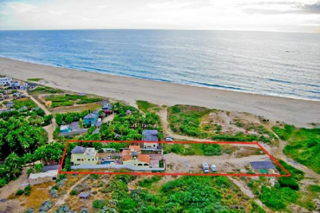 Pescadero Palace is located on a 3-mile white sand beach