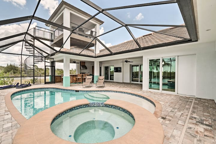 Luxury Waterfront Cape Coral Home with Pool!