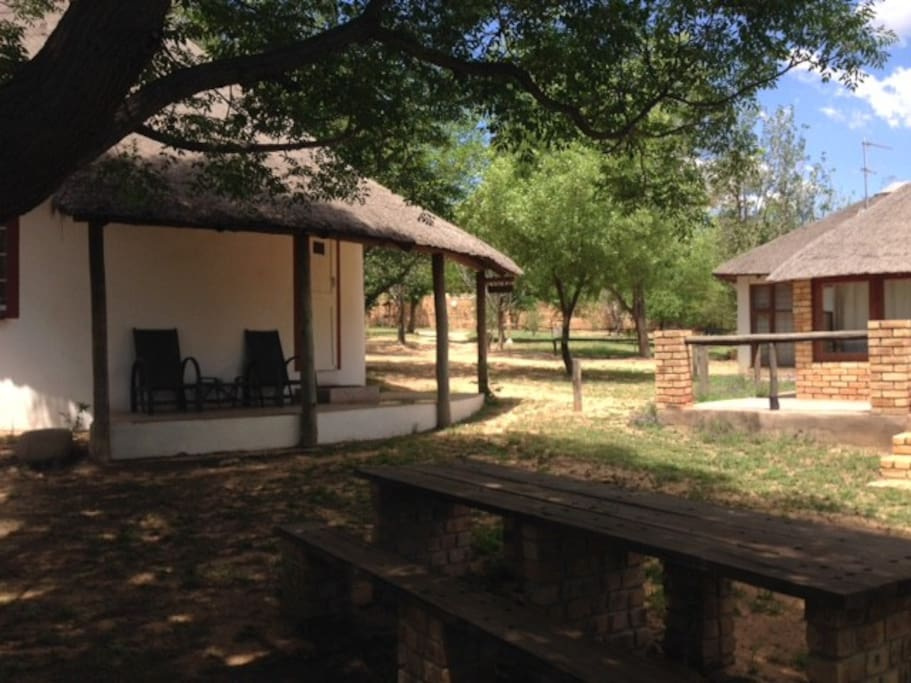 The bee-Eater Chalet - a traditional South African Rondawel