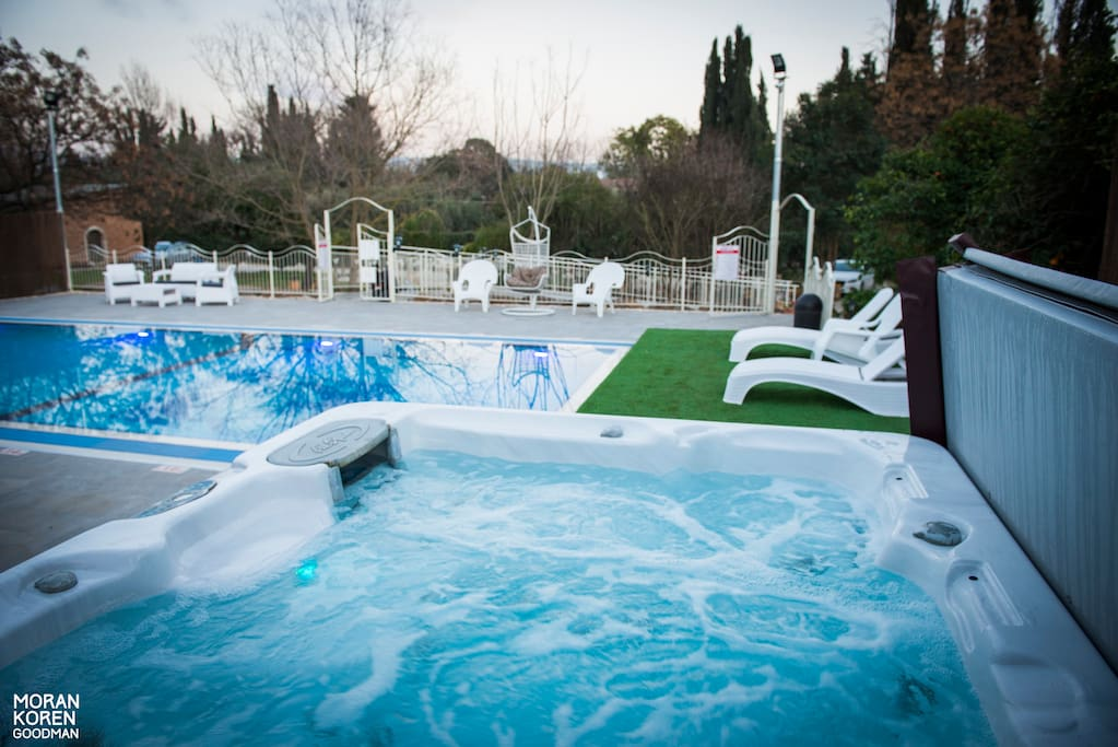 Our pool and hot tub