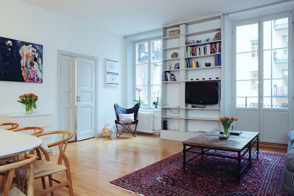 Integrerat vardagsrum - öppen planlösning