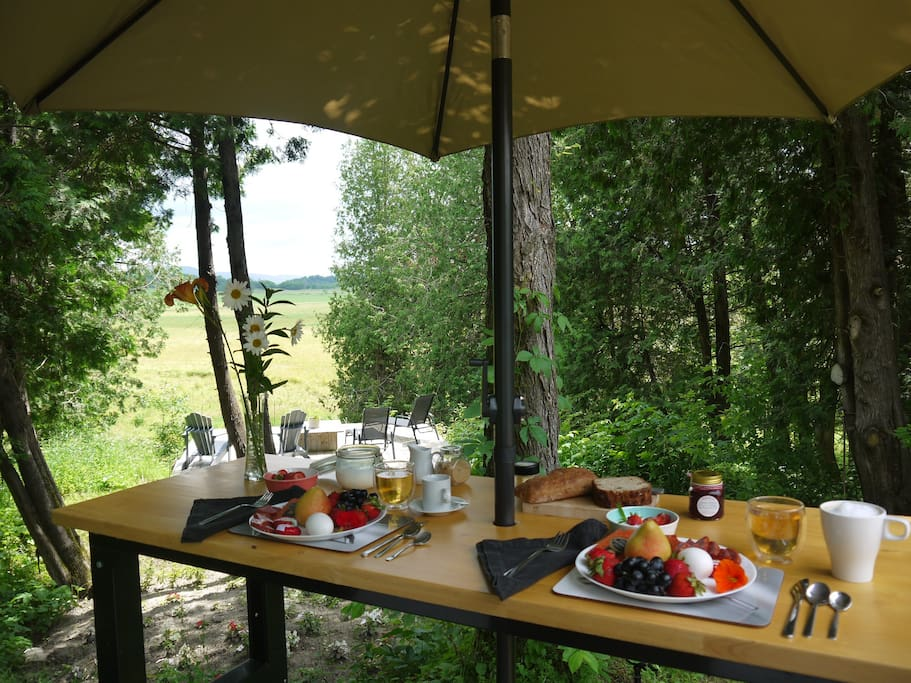 Breakfast is served - anytime - it's in your Airstream and waiting for you