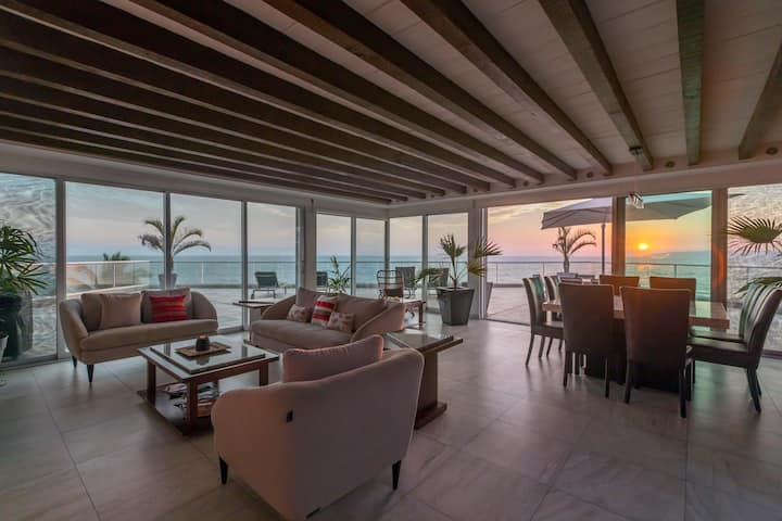 Luxurious beachfront penthouse with large terrace