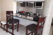 Bar area within the living room