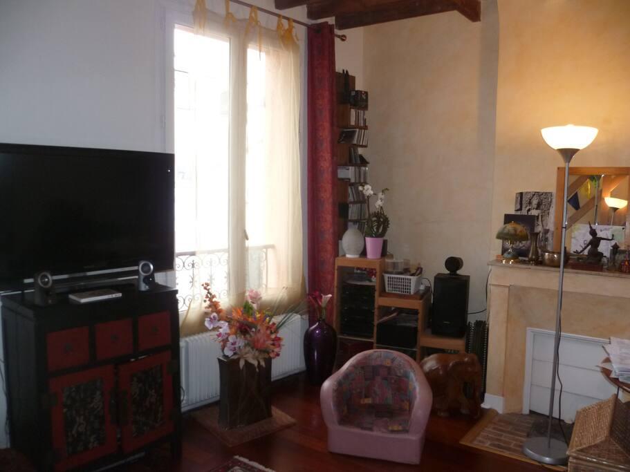 2ème pièce, séjour-salon décoration style Asie
