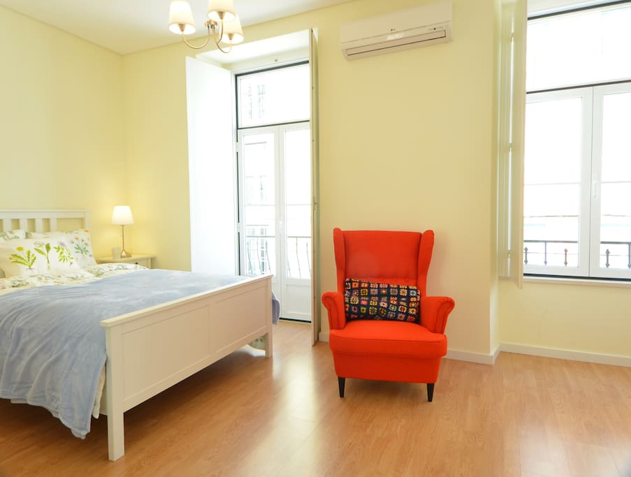 Bedroom 1 (Suite) with air conditioning