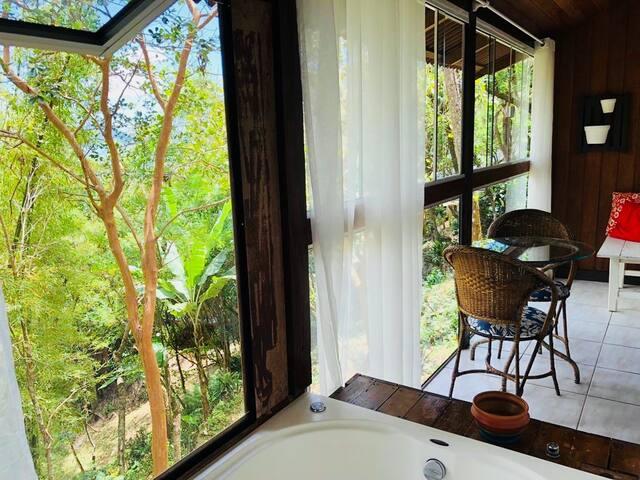 Bangalô Estrela Mar, para casais com banheira
