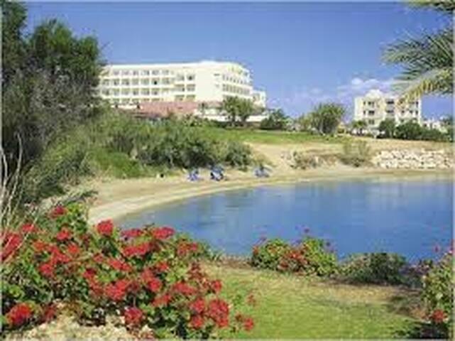 crystal springs beach (kouzalis) 3min walk