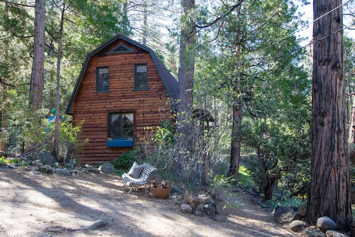 Unique Log Cabin for Two in Idyllwild, CA - Idyllwild-Pine Cove - Cabaña
