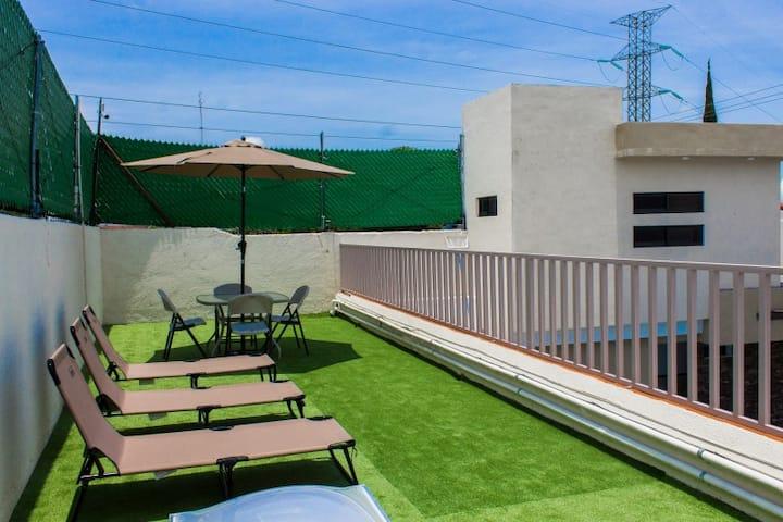 Bonita y nueva estancia + alberca climatizada (D4)