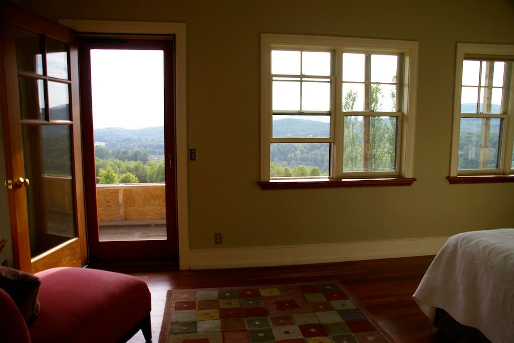 Upstairs bedroom porch is finished now, and has the best views on the property!