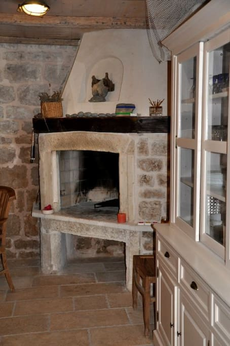 Traditional Dalmatian fireplace