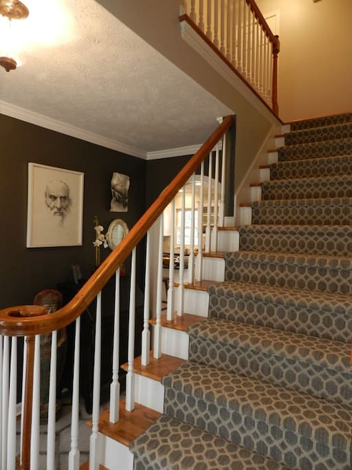 Staircase to upstairs.