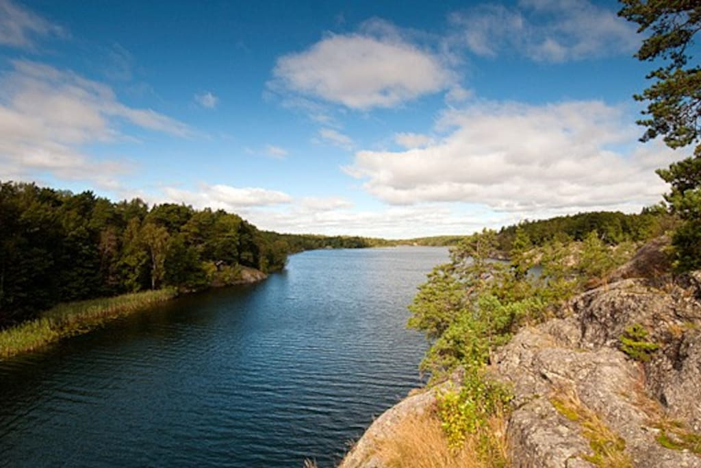 1 min walking distance to Nacka nature reserve