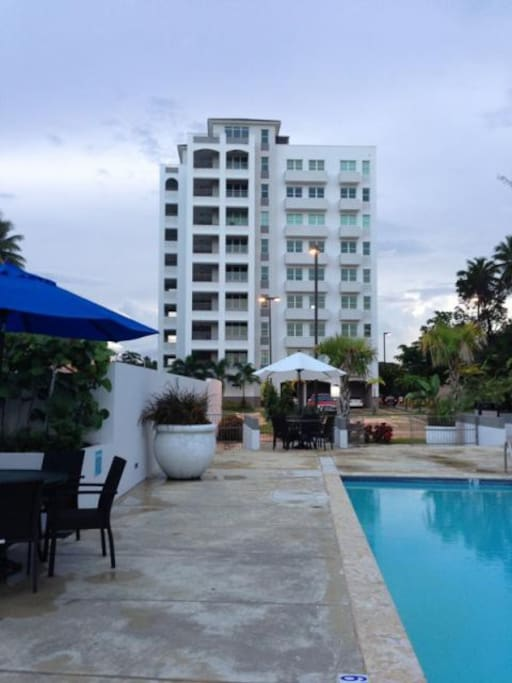 Apartment located on the first floor of this beachfront complex.