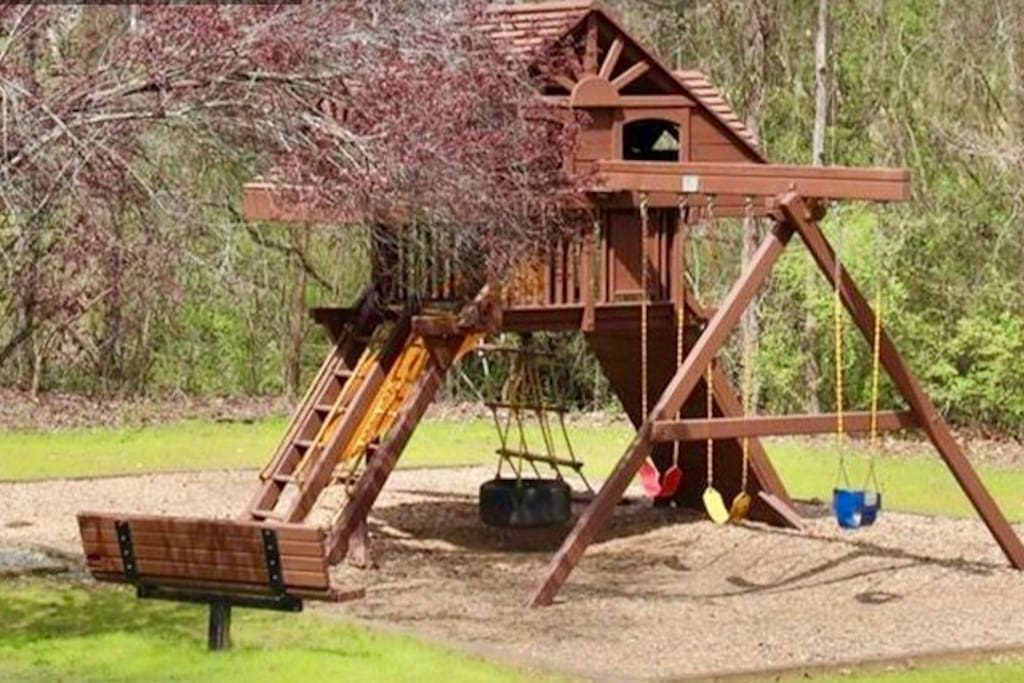 One of the playground sets