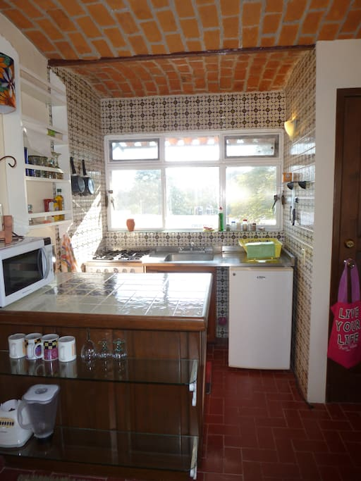 Mexican tiled kitchen