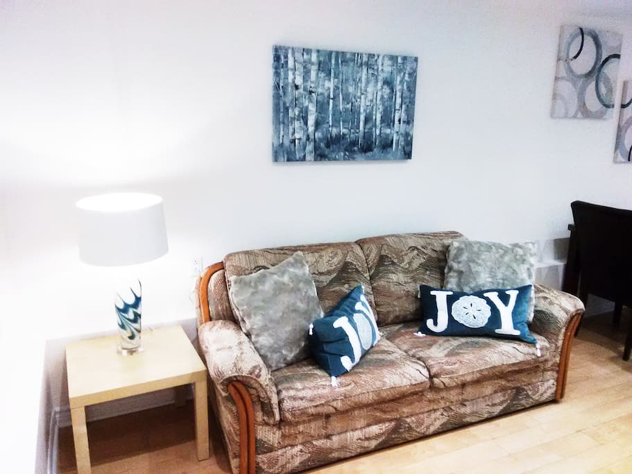 This cozy and comfortable sofa will serve you for hours of lounging, resting, TV, reading and more and will also turn into a double bed to accommodate 2 extra guests at night