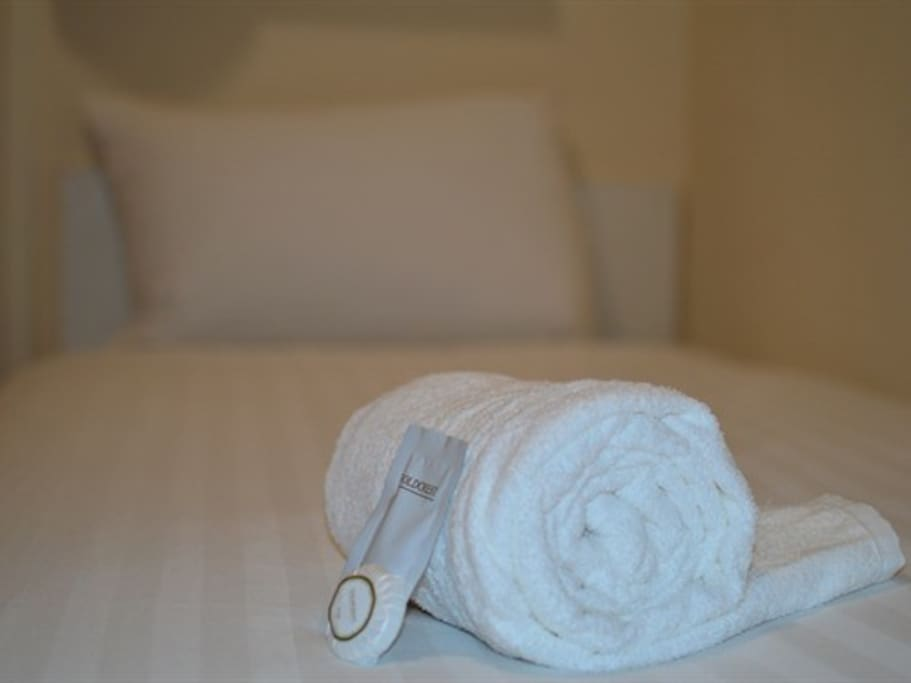 Fresh Towels & Toiletries