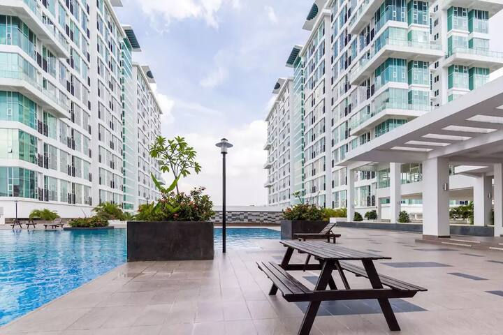 Modern Suite 6pax near Mid Valley - Kuala Lumpur - Flat
