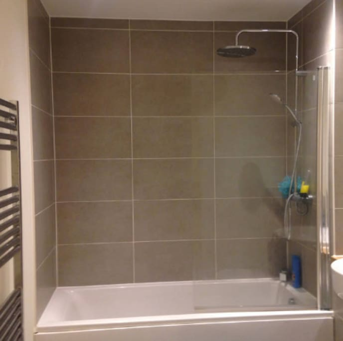 Use Of own bathroom for duration with power shower and bath.