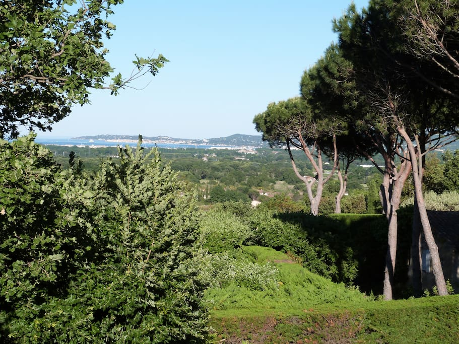 View to Saint Tropez and the sea