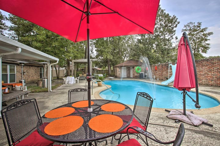 2,500-Square-Foot Slidell Family Oasis w/ Hot Tub!