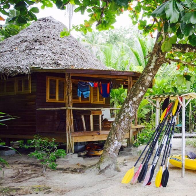 Pelicano cabin from the beach