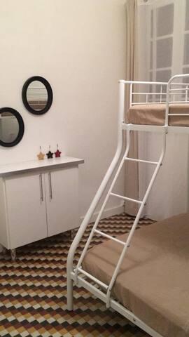 Chambre enfants lit superposés 140+ 90