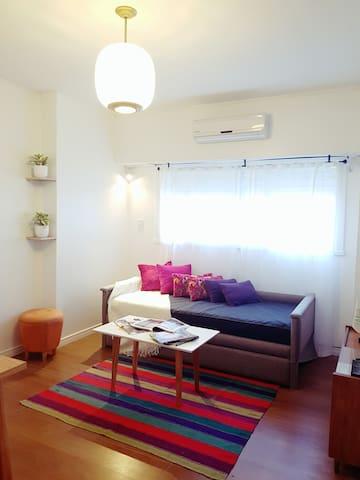 cómodo living y sala de estar