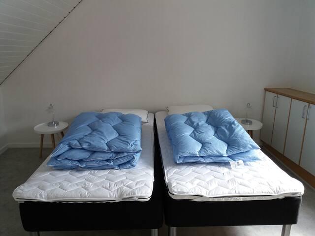 Stort soveværelse 2 pers.