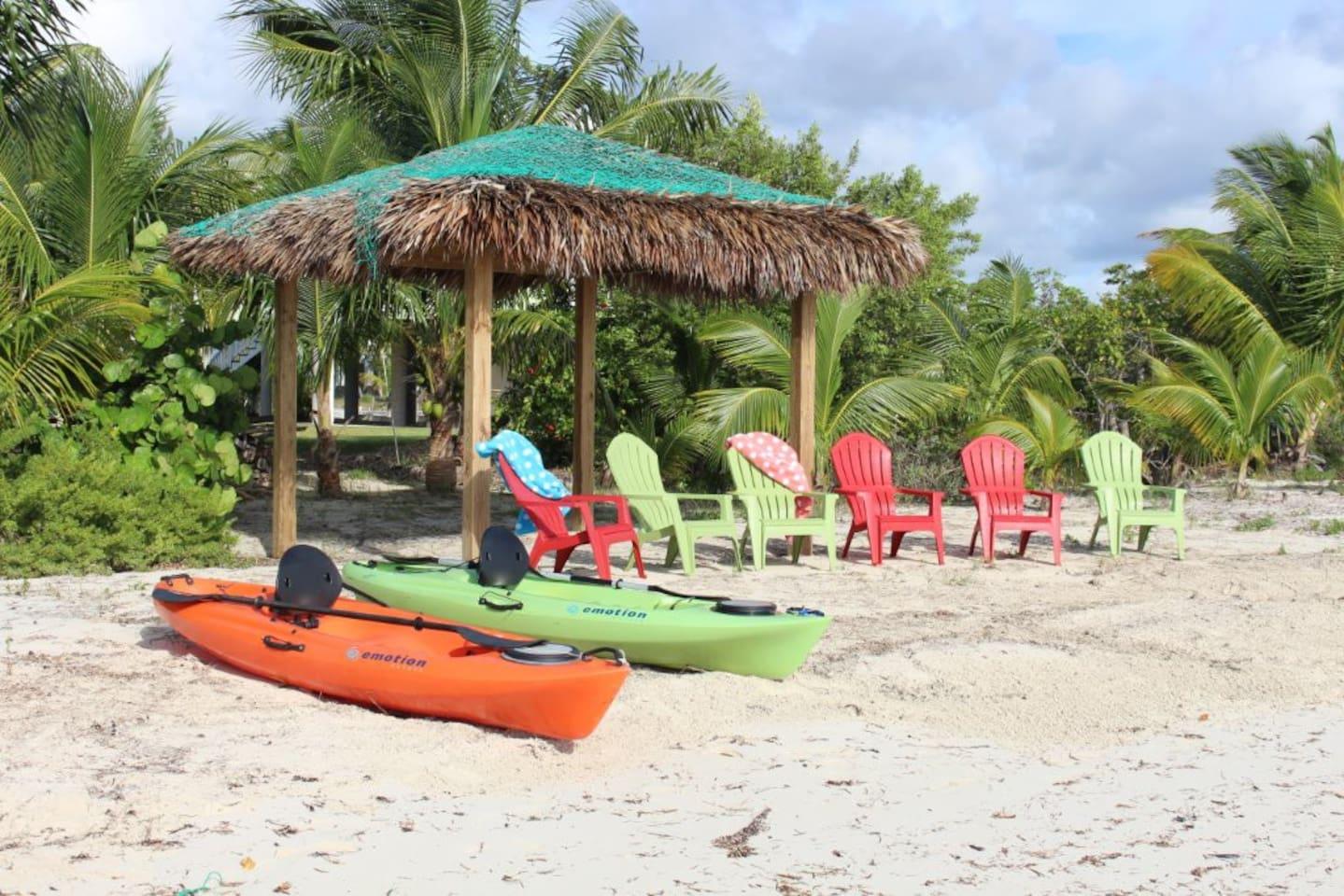 Your beach cabana awaits you!