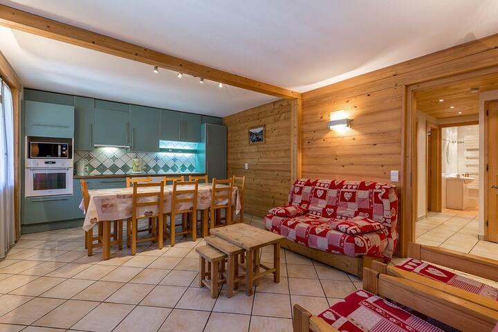 Appart 8 pers - 3 CH - Coeur du village - WIFI - La Clusaz - Condominio