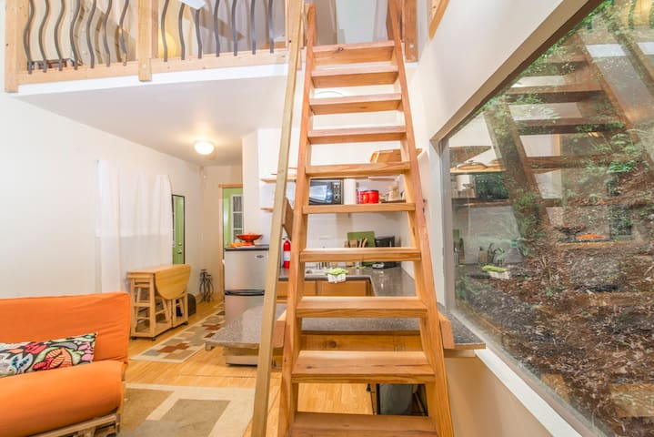Private Tiny house w/Loft near dntn - Asheville - Loft