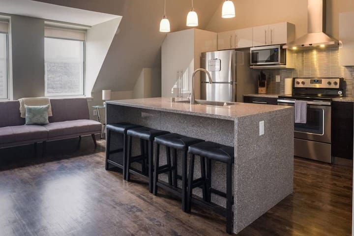 Penthouse Apt In Heart Of Downtown w/ Free Parking