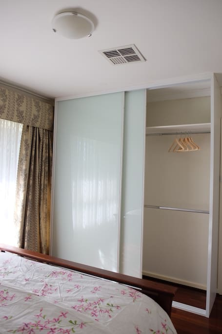 Big closet in the master bedroom