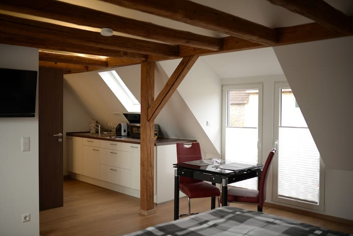 Neu renovierte 1 Zimmer DG Wohnung zentral - Oedheim - Appartement