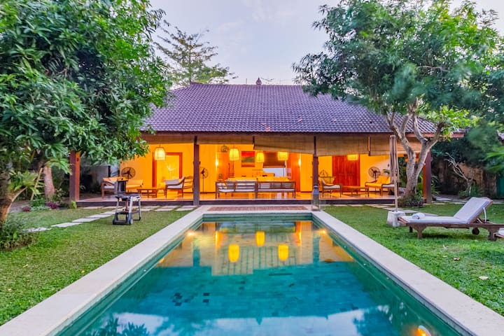Surf town villa with Balinese charm