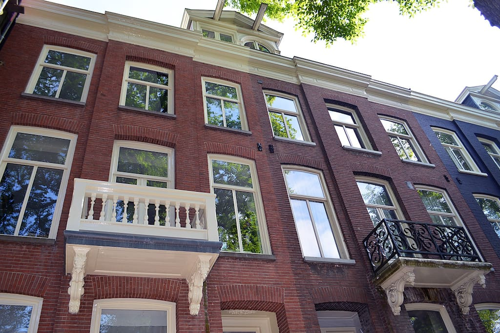 View from the exterior. You can see the typical Amsterdam style on the outside