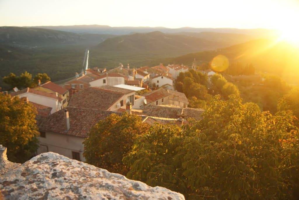 View of Motovun at dawn