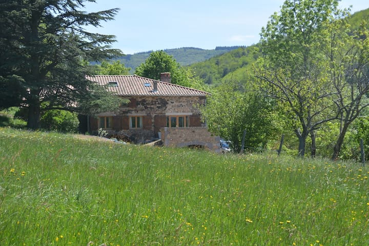 La Gabbro, grande maison en pleine nature - Saint-Barthélémy-Grozon - House