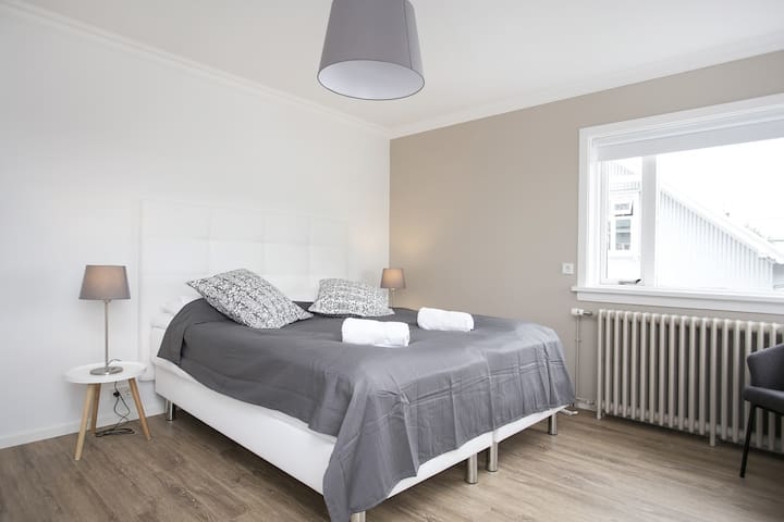 Bright and spacious double room.