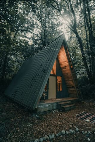 Camp Singing Wind, Bohemian A-frame  Cabin