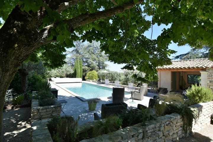 Traditional rustic style villa with private pool