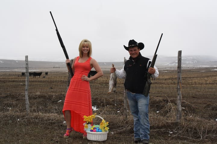 This is how we do Easter in Meeker! LOL!