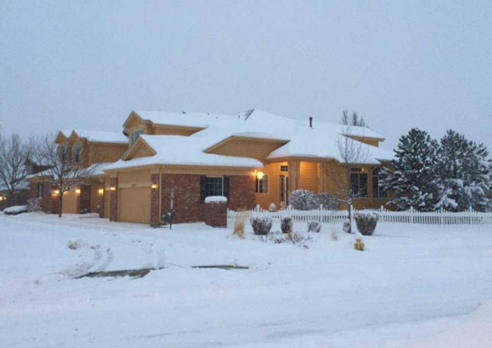We are the townhome closest in this snowy photo.